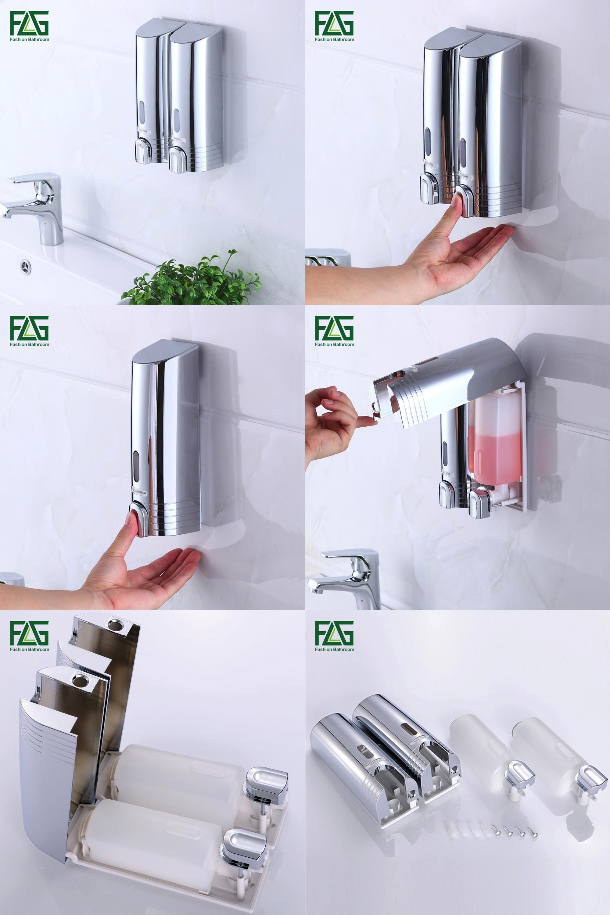 Visit to Buy] FLG Cheapest Double Soap Dispenser Wall Mounted Soap