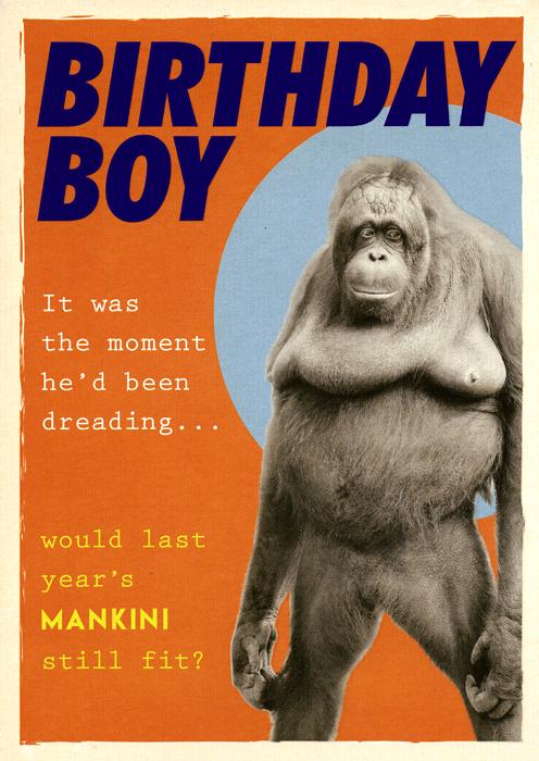 Funny Card Birthday Boy Mankini Still Fit Comedy Card Company Happy Birthday Quotes Funny Funny Happy Birthday Wishes Funny Happy Birthday Meme