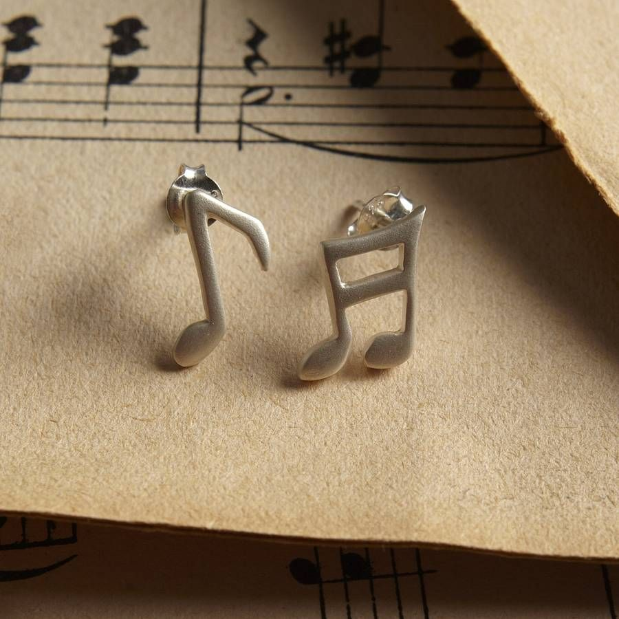 Silver Music Note Necklace Necklacejewellery Earringssilver Stud
