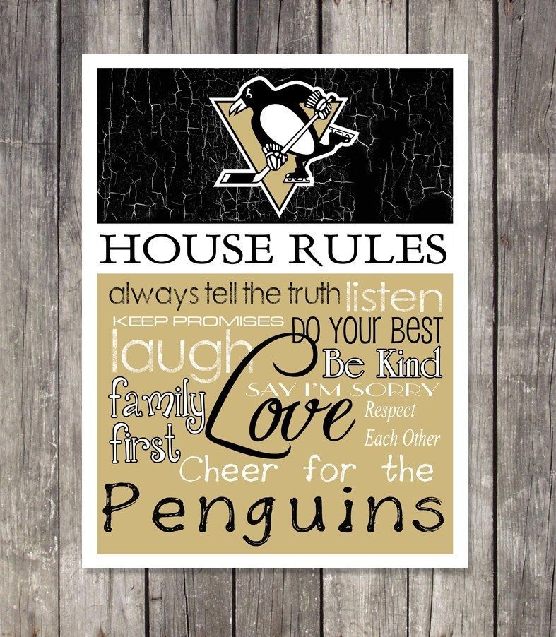 PITTSBURGH PENGUINS Hockey HOUSE RULES Wall Art   NEW ITEM. Details about See The Video   RARE COVELLITE PINK FIRE QUARTZ
