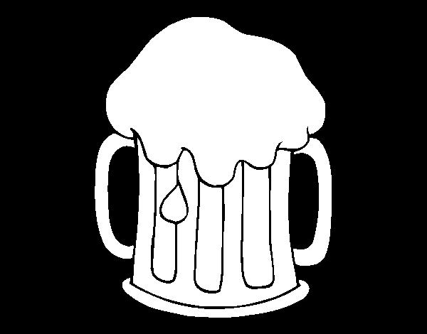 Dibujo de Cerveza fría, para Colorear en línea, descargar, imprimir ...