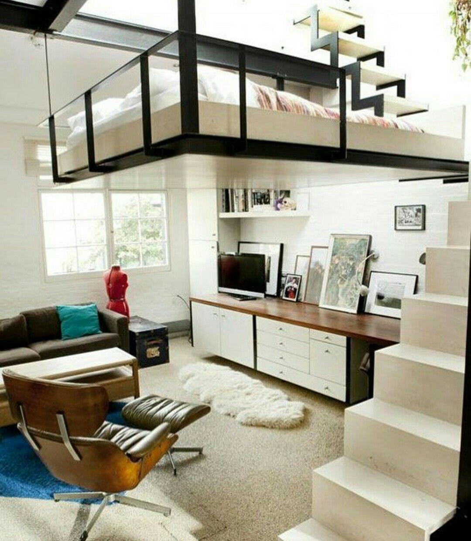 Innen Baumhaus, Zimmerbäume, Schwebebett, Wohnung In London, Dachgärten,  Kleine Häuser, Baumhäuser, Gästezimmer, Oberlicht