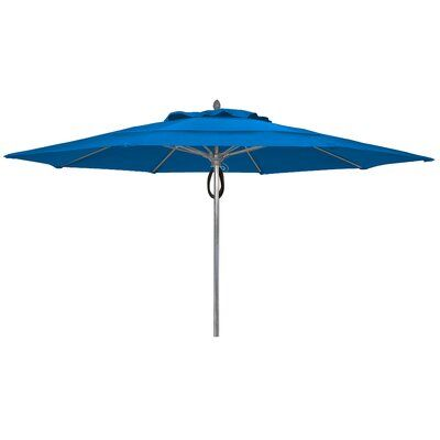 Freeport Park Burruss 13' Market Umbrella Fabric True Brown, Frame Finish White is part of Freeport park, Market umbrella, Outdoor umbrella, Freeport, Ocean front property, Patio umbrella - Freeport Park These large Burruss Collection umbrellas come in 4 powder coat colors  For freestanding use only they  Optional double vent or Aruba canopies are excellent for locations that experience high winds  Designed for use in hospitality settings such as restaurants, hotel pools, resort patios, country club outdoor dining and ocean front properties these contract grade umbrellas provide years of durable service as well as a wide array of fabric and finish choices to compliment the decor any FiberTeak™ outdoor space  Fabric True Brown, Frame Finish White
