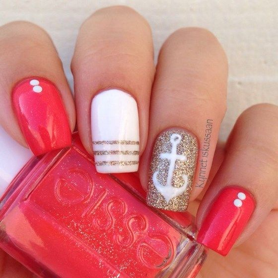 36 diseños de uñas en color coral, ¿cuál es tu preferida? | Como ...