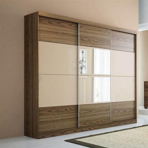 Cheap Bedroom Design Ideas Sliding Door Wardrobes: Manhattan Comfort 4-drawer Hudson 3-door Wardrobe