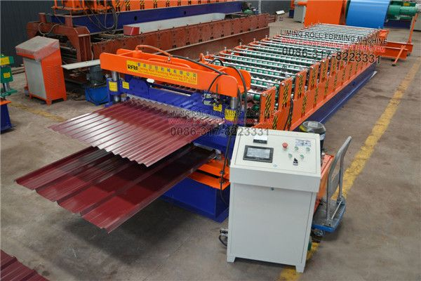 This Is Uruguay Type Double Layer Roofing Sheet Roll Forming Machine One Machine Produce Corrugated Sheet Roofing Sheets Roll Forming Plates On Wall