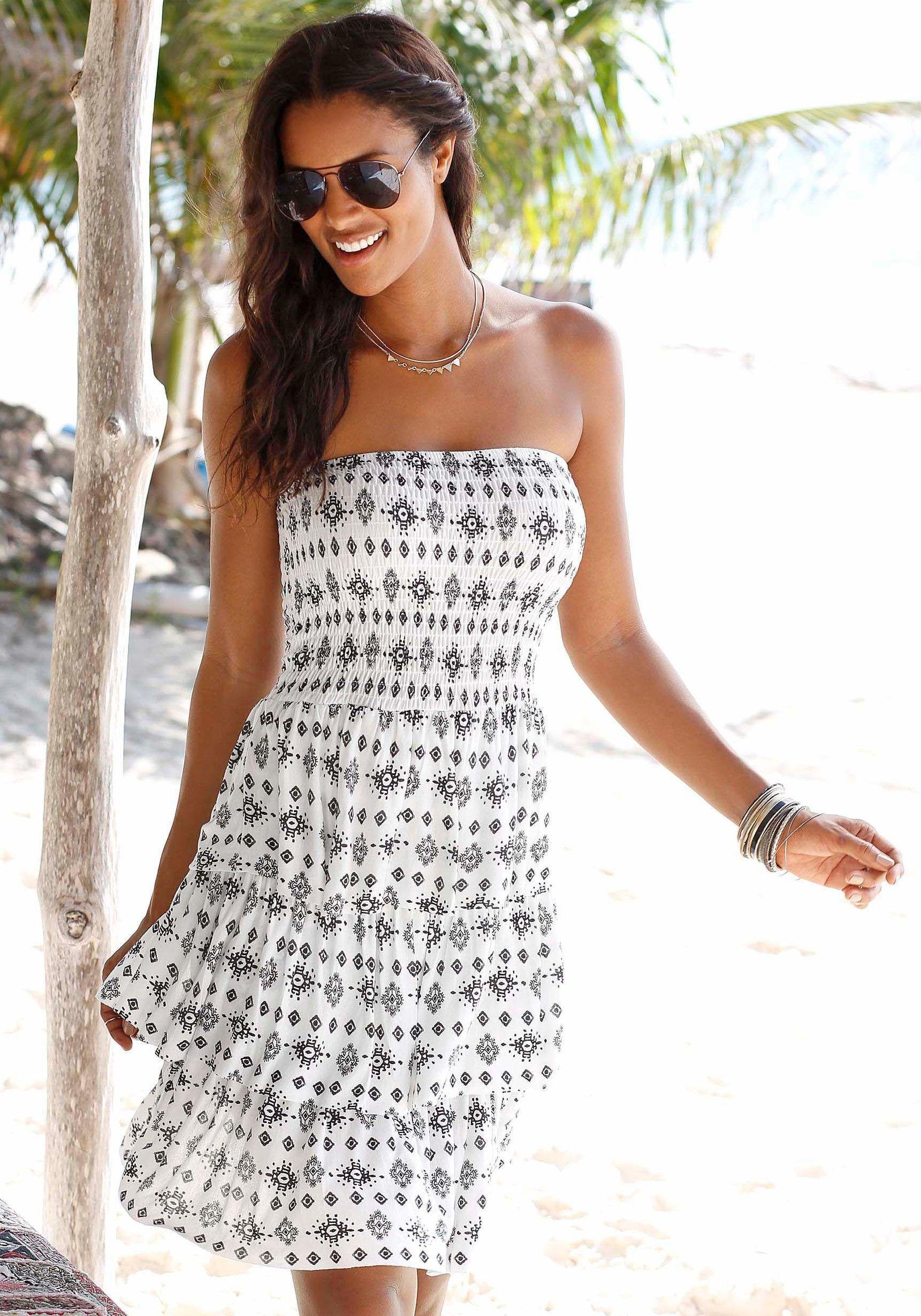 Lascana Strandkleid Mit Volants Dresses I Love Dresses Fashion