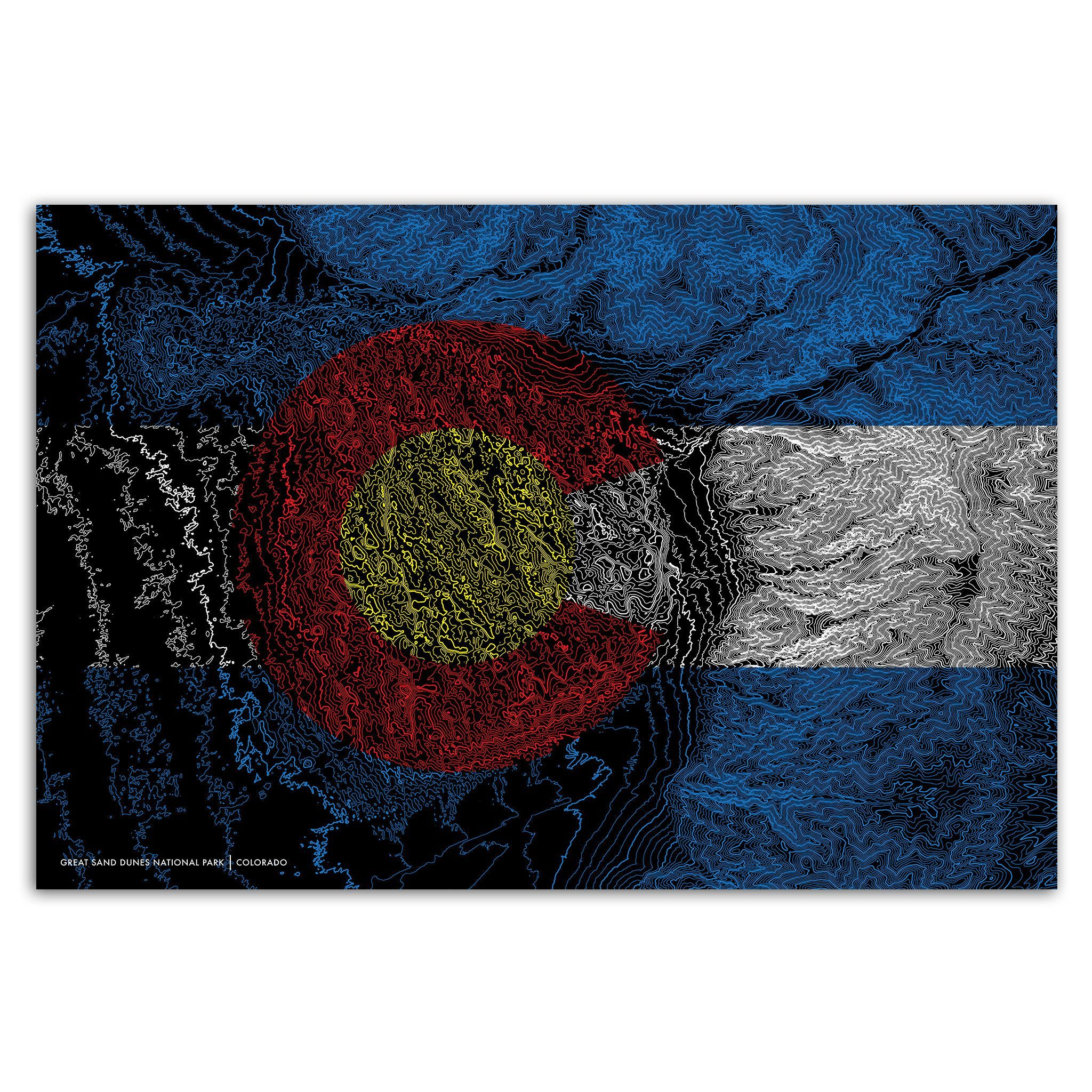 Colorado Topo Metal Print