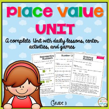 Place Value Unit Common Core Lessons, Activities, and Games - how to make an order form in word