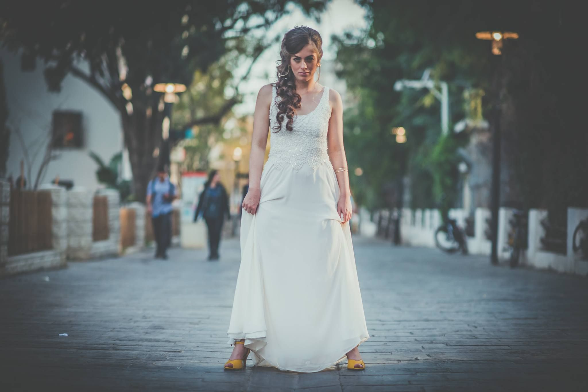 Brenda\'s awesome wedding look, vegan wedding shoes by RONI KANTOR ...