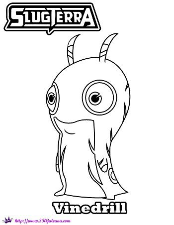 Free Slugterra Vinedrill Printable Coloring Page And Wallpaper