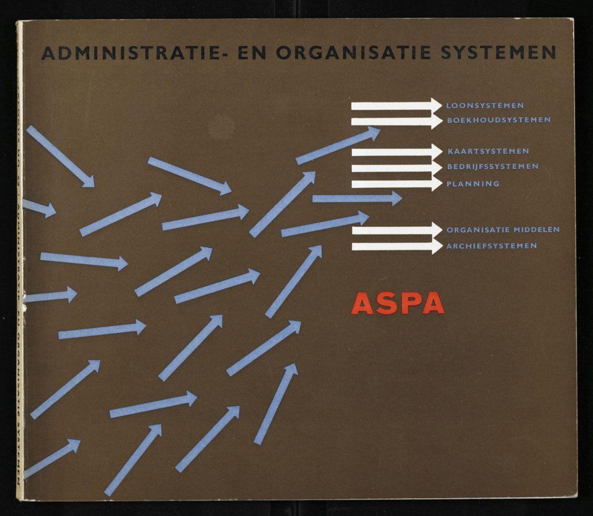 Administratie- en organisatie systemen, Aspa; cover by Jurriaan Schrofer