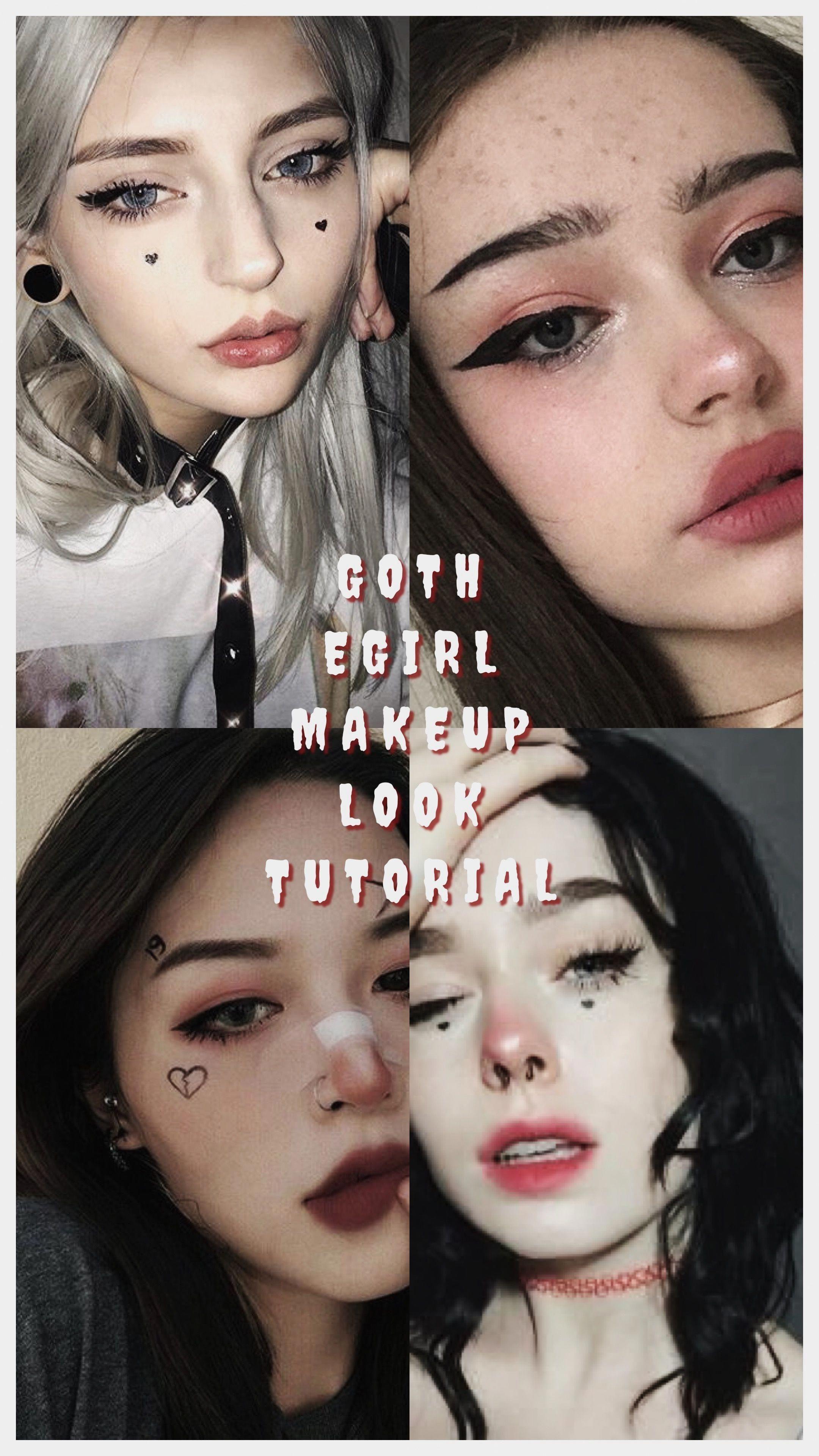 Egirl Makeup Blue Glitter Eyes Blue Makeup Glitter Eyes Gothic Makeup Tutorial