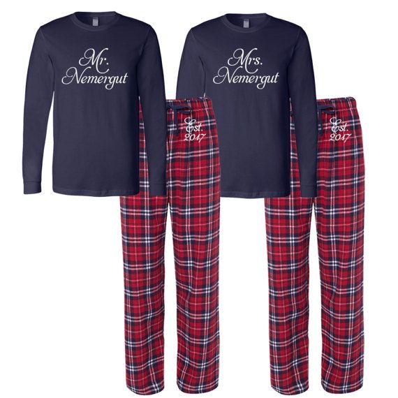 8474d121b Mr and Mrs Personalized Pajamas
