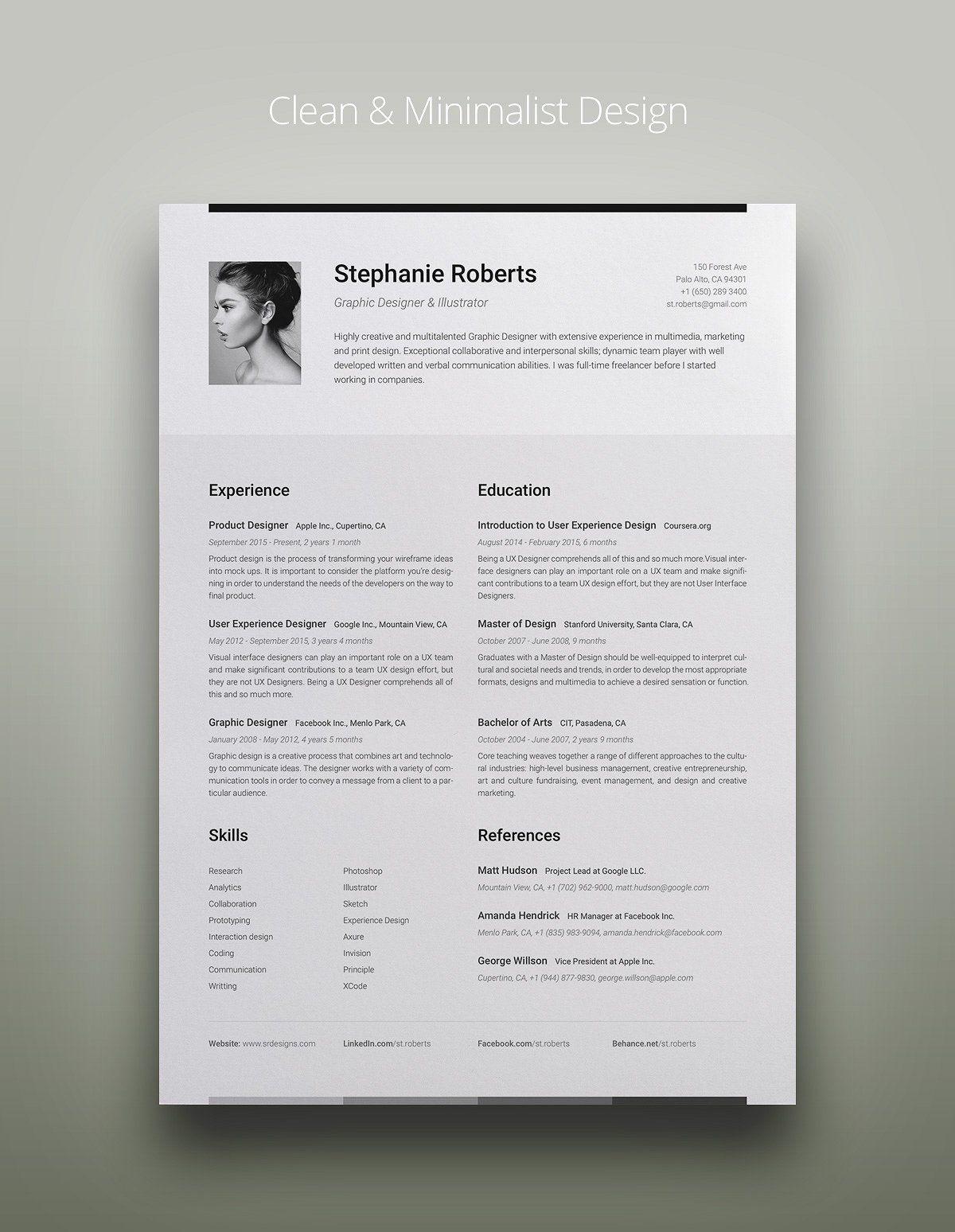 Professional Resume v.2.3 by DEFNST on creativemarket