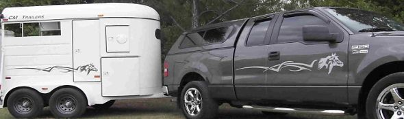 Auto Body Art Truck And Trailer Horse Decals Car Decal -  horse graphics for trucks