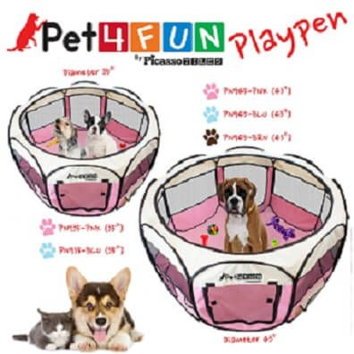 Buy Dog Pen Kennel Exercise Portable Playpen Indoor Outdoor Containment  Puppy Fence At Online Store