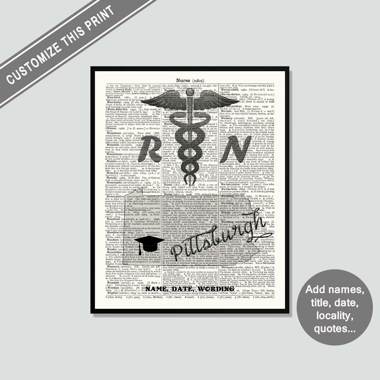Graduation Gift, Nurse Wall Art, Custom Nurse Gift
