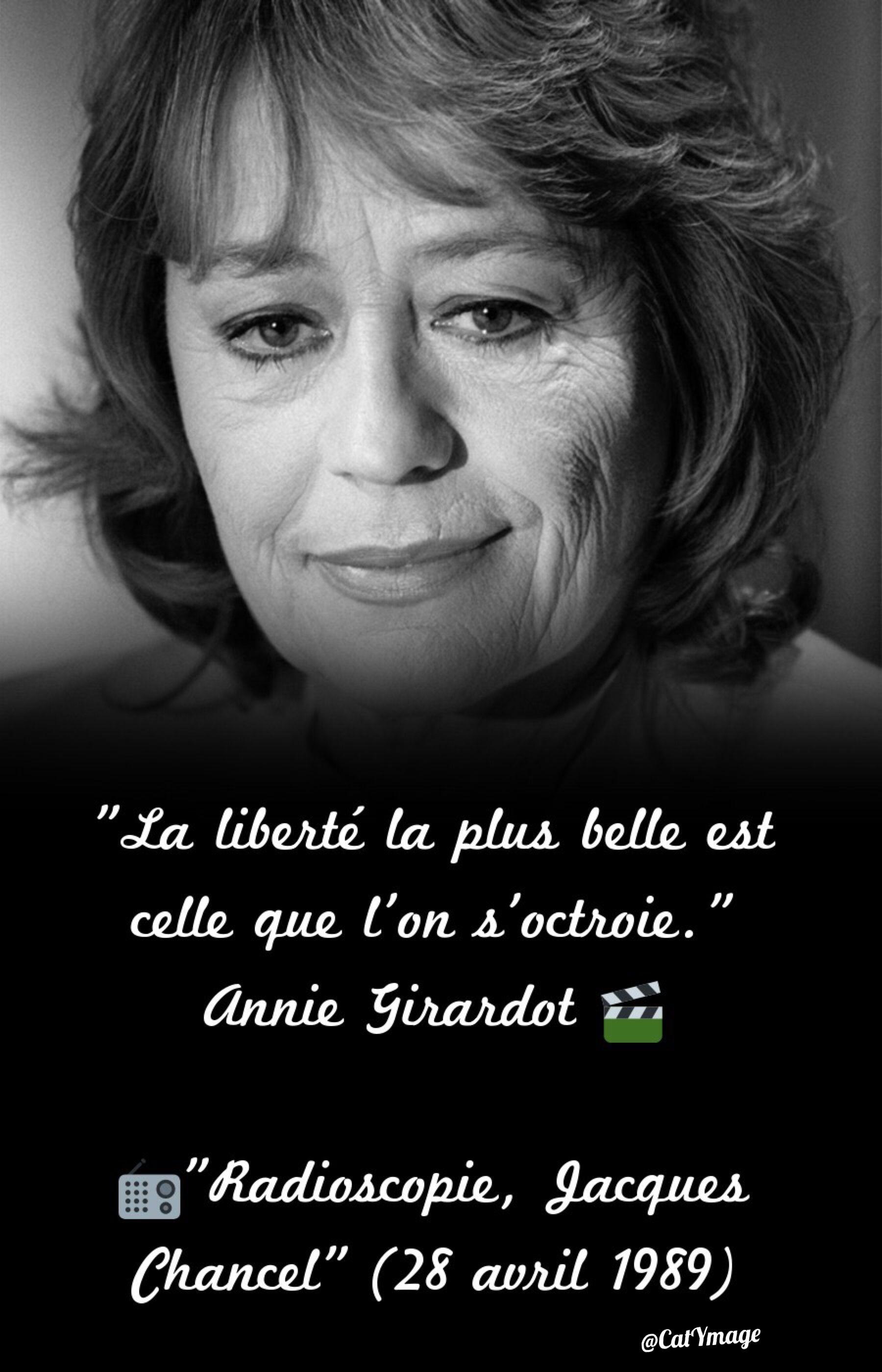 """Résultat de recherche d'images pour """"annie girardot + citation liberté"""""""