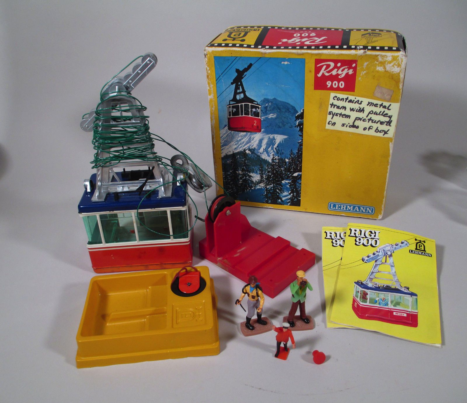 Vintage Lehmann Rigi 900 Gondola Ski Lift Cable Car Toy