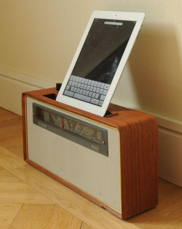 Ipad docking station, remake of an old retro radio Design - ebay kleinanzeigen küchengeräte
