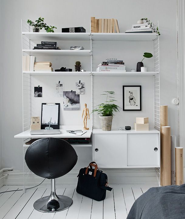 workplace office studio workspace atelier pinterest string regal regal und arbeitspl tze. Black Bedroom Furniture Sets. Home Design Ideas