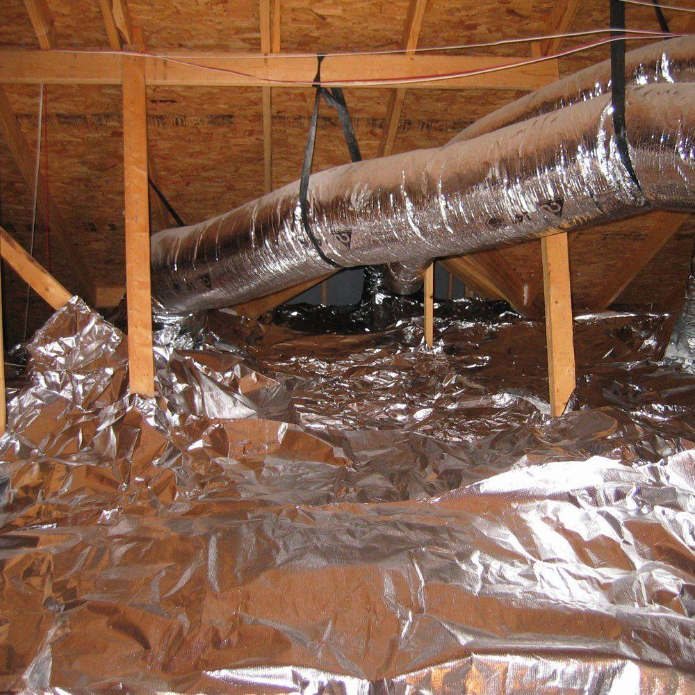 Radiantguard Ultima Foil Radiant Barrier Foil Insulation 1000 Square Feet Roll U 1000 B Weatherproo In 2020 Window Insulation Kit Radiant Barrier Home Improvement
