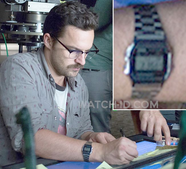 b2f968a631 Jake Johnson wears a Casio A158WA-1 watch in Jurassic World. | watch
