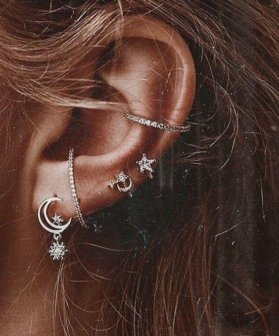 Amazing Ear Piercings Chart | Brest Ear Piercing Ideas for Girls