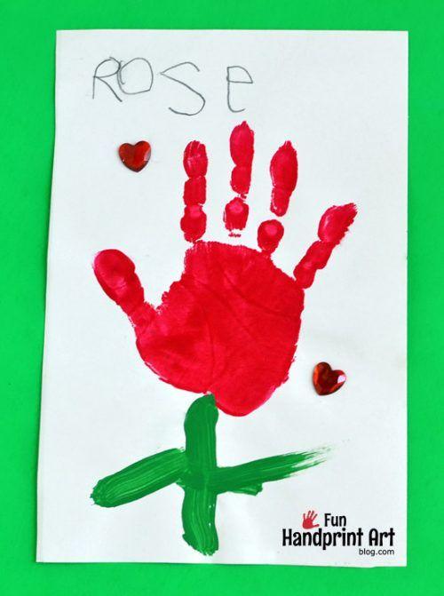 The Little Rose Handprint Craft Kids Book Idea Fun Handprint Art