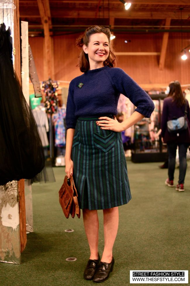 More Forties Inspired Flair: At SF Vintage Expo. Love Her 40's Hair Especially. Photo
