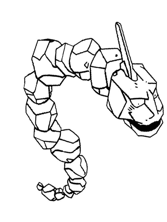 Onix Pokemon Of Brock Coloring Page