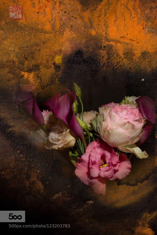 bouquet - Pinned by Mak Khalaf digital Fine Art artbeautifulcolorcolorfulflowerflowersredsummersun by GerardMarlot