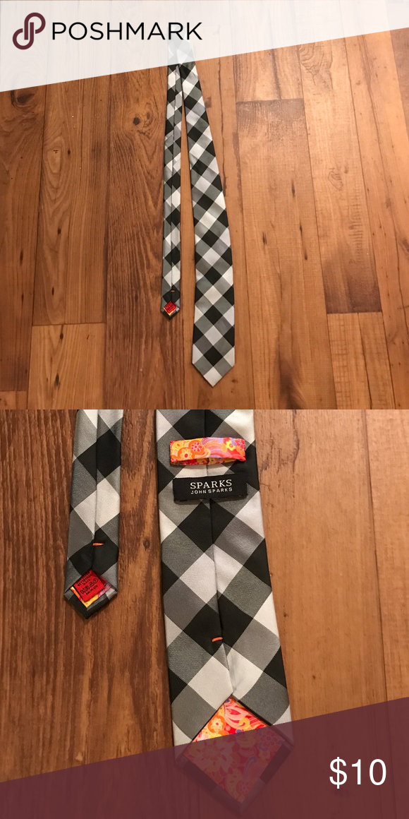 John Sparks 👔 Tie Plaid Tie Accessories Ties