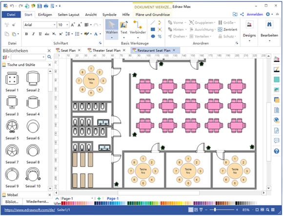 Sitzplan erstellen Software | Grundriss Baupläne | Pinterest | Hochzeit