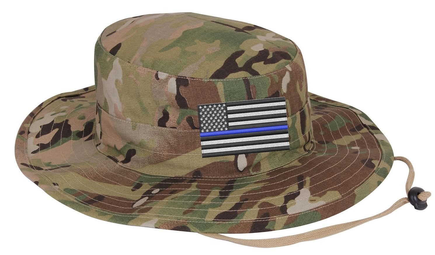 This adjustable boonie hat is a powerful way to promote law enforcement  support. The Embroidered 52d0f09152d2