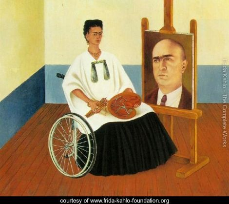 Self Portrait With The Portrait Of Doctor Farill - Frida Kahlo - www.frida-kahlo-foundation.org