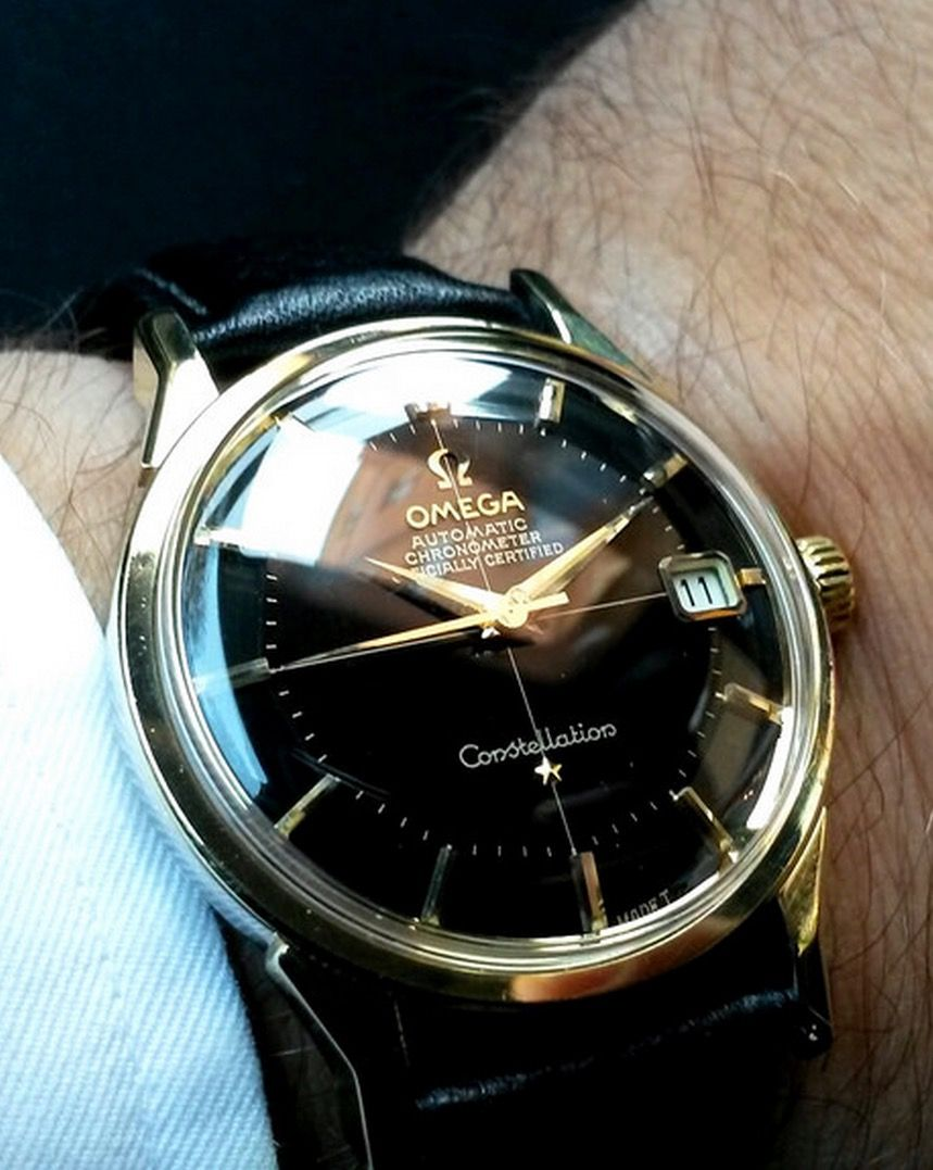 superb vintage omega constellation piepan chronometer in gold cap chubster s choice men s watches watches for men coup de cœur du chubster montre pour homme omega constellation piepan chronometer in gold cap circa