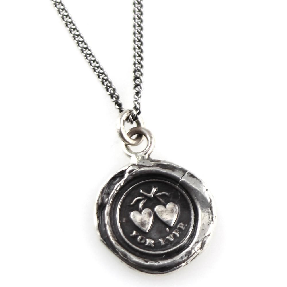 Something Silver | Pyrrha Sterling Silver Hearts Talisman Necklace