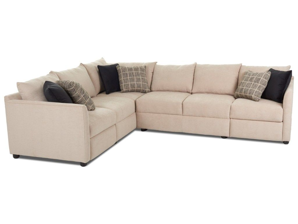 Atlanta Two Piece Power Hybrid Reclining Sectional Sofa with ...