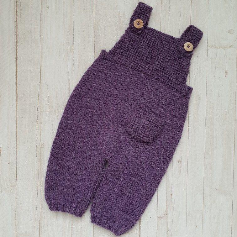 DISANA Romper 100 MERINO WOOL newborn baby knitted knit overall organic boy girl
