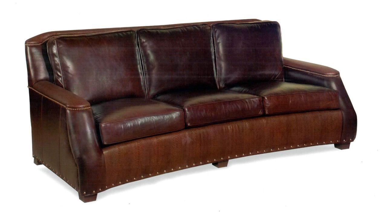 Harrington Leather Sofa , American Heritage Custom Leather ...