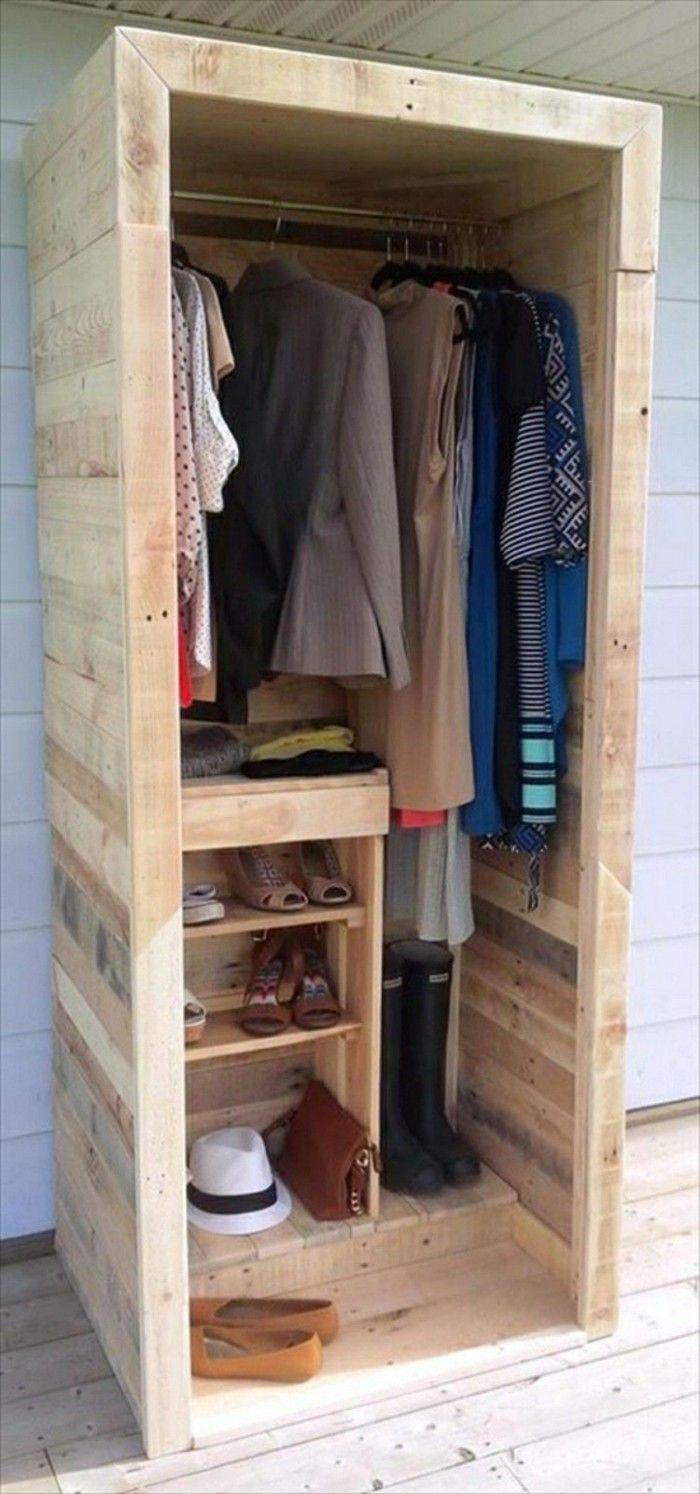 22 DIY Ideen, wie man Garderobe aus Paletten selber bauen