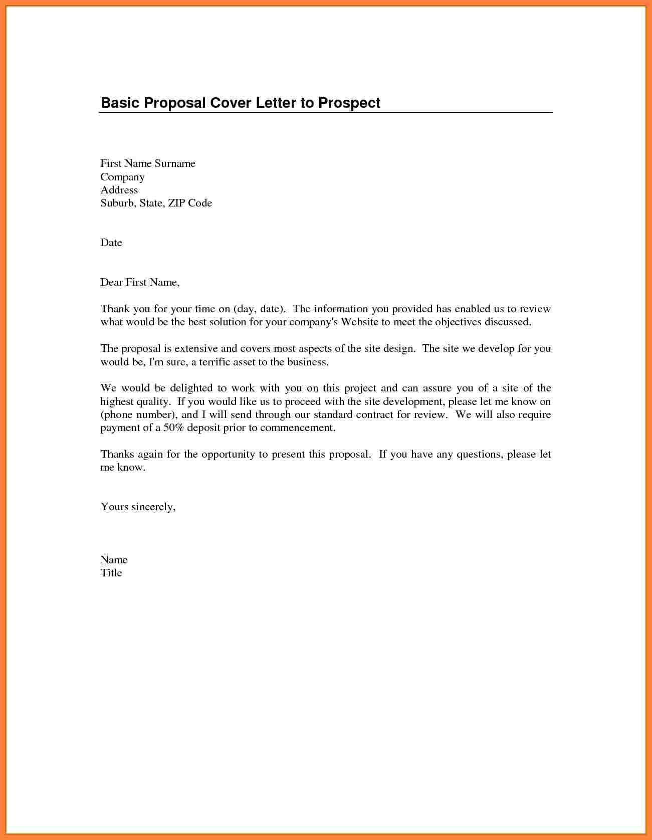 simple cover letters examples