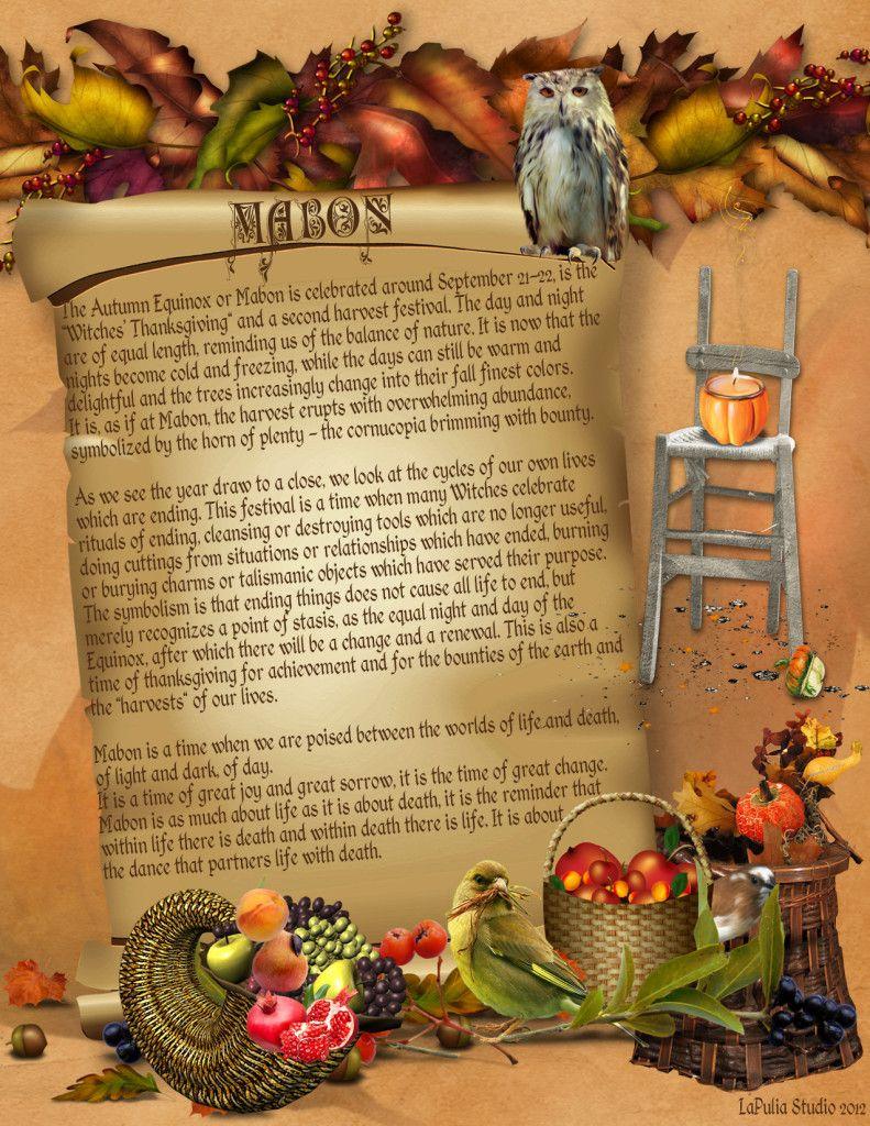 Mabon Pagan Holiday Information Page 1 Lapulia Book Of Shadows Mabon Book Of Shadows Pagan Festivals
