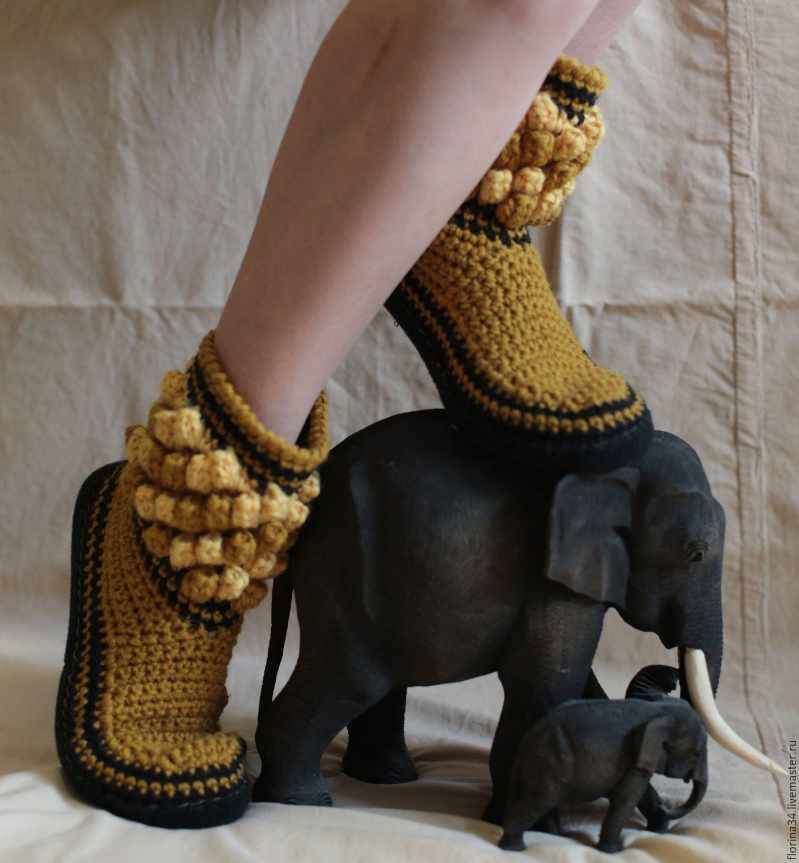 Crochet indoor shoes