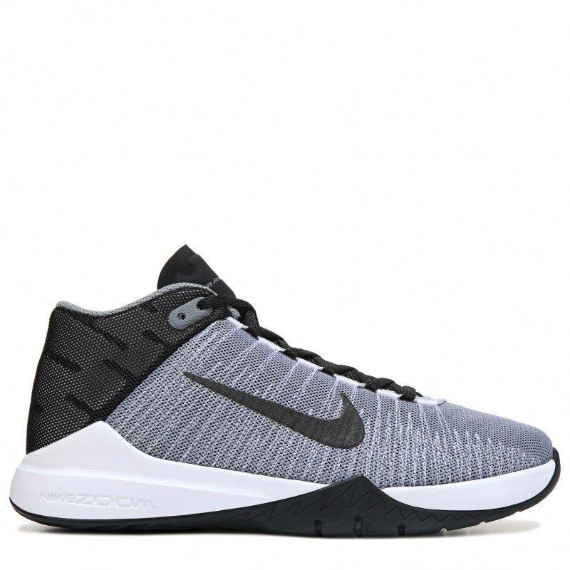 8f71be948735 Nike Kids  Zoom Ascention Basketball Shoe Grade School Shoes (Grey Black) -