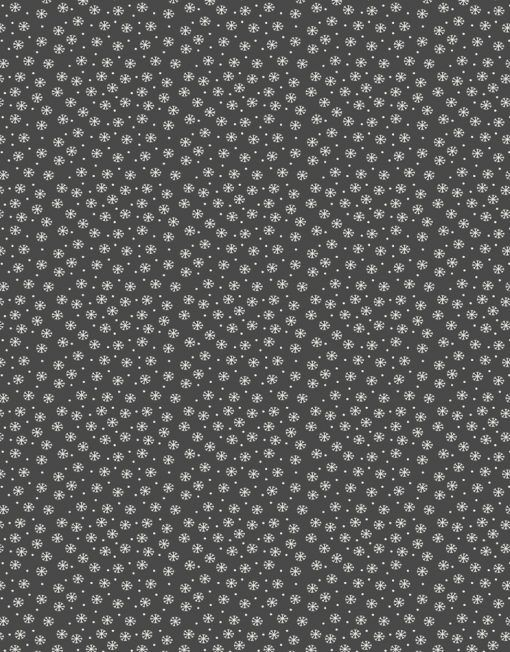 When I Met Santas Reindeer Fabric Snowflake Grey - Main - 103074