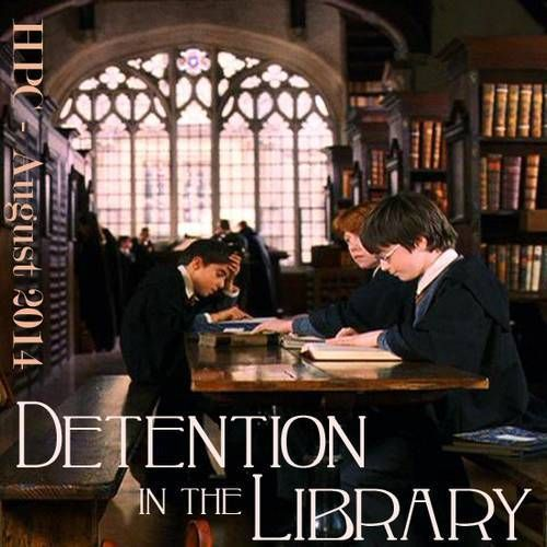 August Detention: Detention in the Library // Summer 2014 Term // Harry Potter Craftalong @ craftster.org