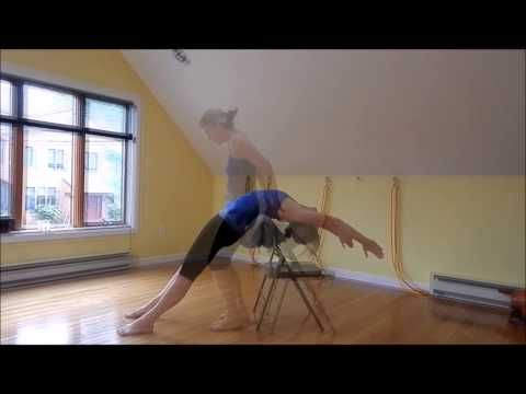 Carrie Owerko Playful Practice W The Chair Super Trailer Youtube Iyengar Yoga Chair Yoga Yoga Videos